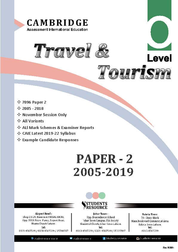 Pay to do tourism paper sciarc thesis