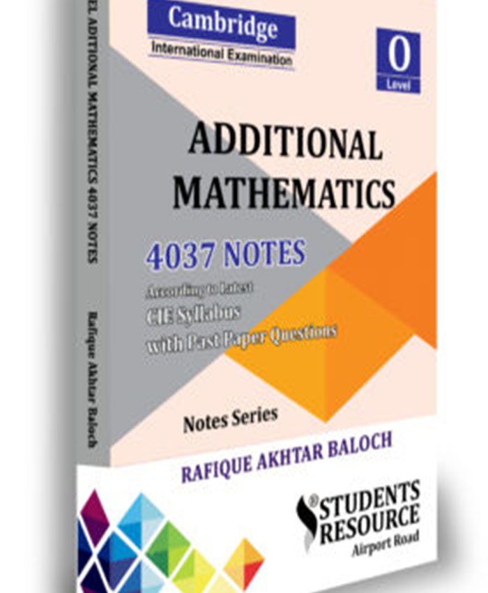 O Level Mathematics Additional Notes